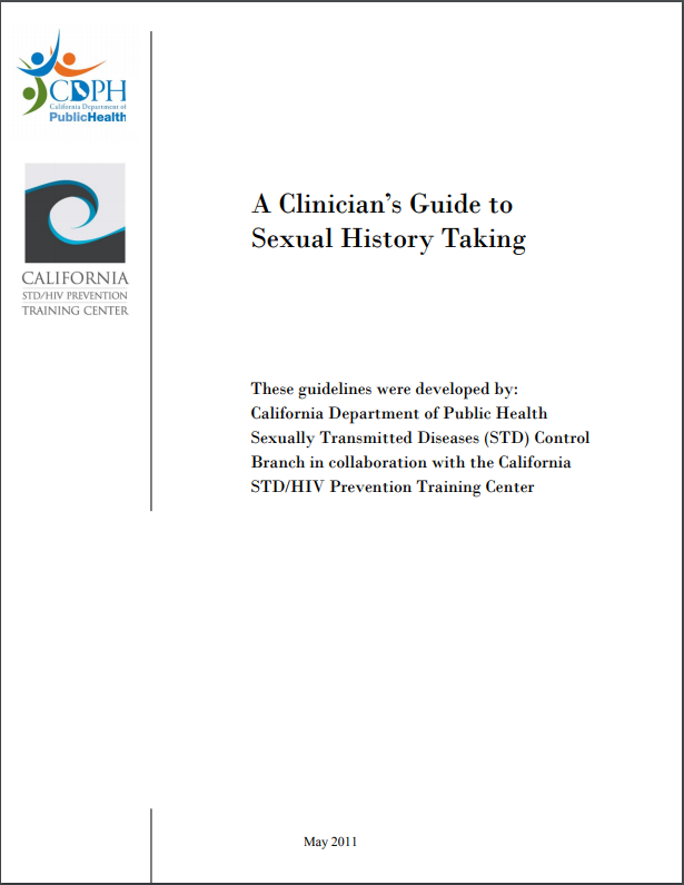 A Clinician's Guide to Taking a Sexual History