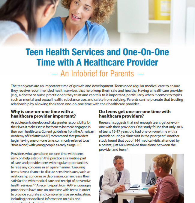 CDC Infobrief for Parents