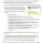 Health Insurance Confidential Communications Request Form