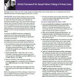 GOALS Framework for Sexual History Taking in Primary Care (New York State Department of Health AIDS Institute)