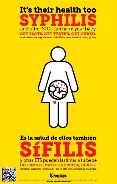 'It's Their Health Too' Syphilis Poster – English/Spanish (Los Angeles County Public Health)