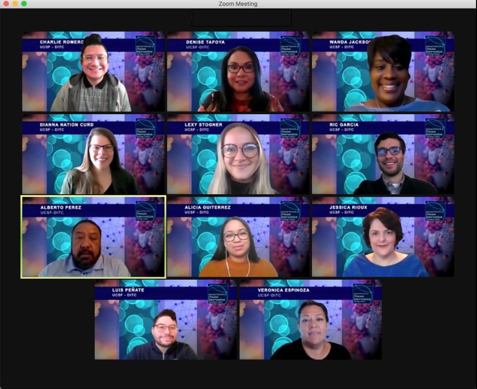 Zoom screenshot of DITC staff meeting